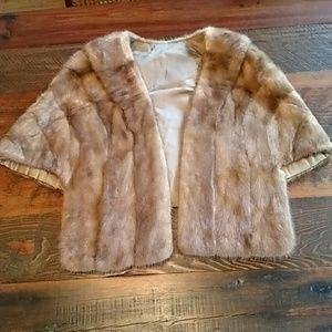 Authentic Vintage Collared Mink/Sable Fur Cape